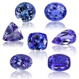 Tanzanite, faceted
