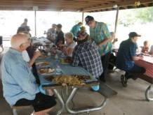 Club members eating & chatting